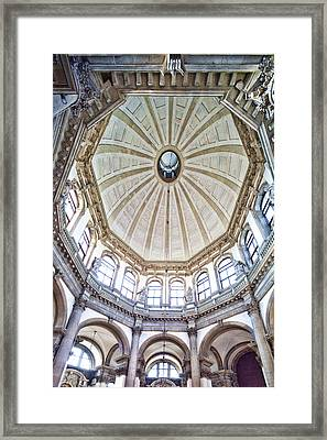Interior Of La Salute Church Framed Print by Felipe Rodriguez