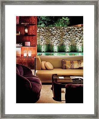 Interior Of Modern Living Room Framed Print by Scott Frances