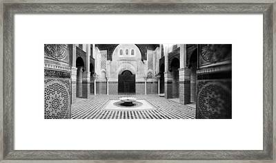 Interiors Of A Medersa, Medersa Bou Framed Print by Panoramic Images