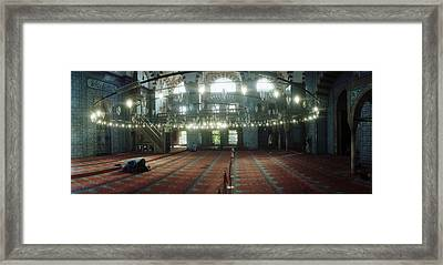 Interiors Of A Mosque, Rustem Pasha Framed Print by Panoramic Images