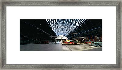 Interiors Of A Railroad Station, St Framed Print