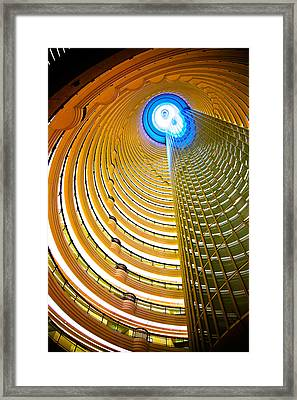 Interiors Of Jin Mao Tower Looking Framed Print