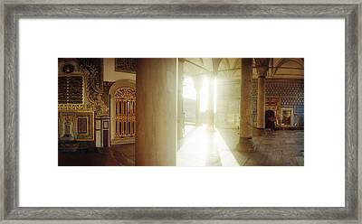 Interiors Of Topkapi Palace Framed Print