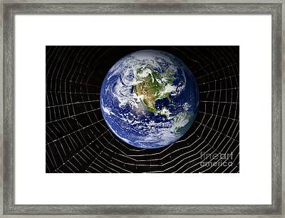 Internet, Conceptual Image Framed Print by Victor de Schwanberg