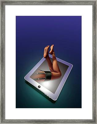 Internet Sex Framed Print
