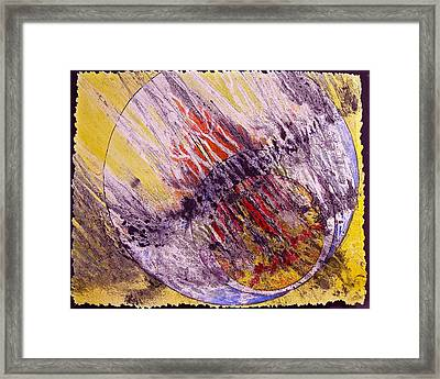 Intersecting With Nature Framed Print by Carolyn Rosenberger