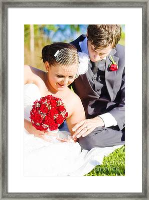 Intimate Wedding Moment Framed Print