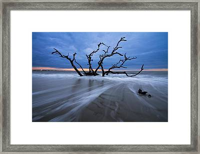 Into The Blue Framed Print by Debra and Dave Vanderlaan