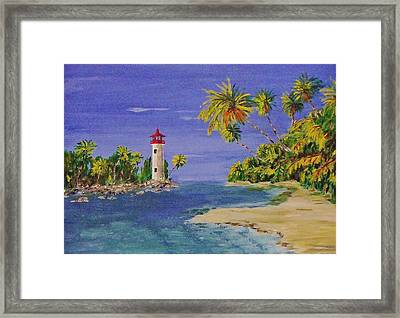 Into The Tropics Framed Print