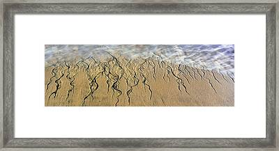 Intricate Pattern Created By Surf Framed Print