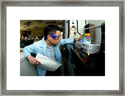 Ionic Liquid Research Framed Print by Us Air Force/johnny Wilson