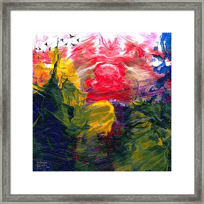 Framed Print featuring the painting Irascible by Ron Richard Baviello