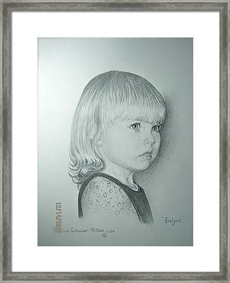 Framed Print featuring the painting Irelynd by Patricia Schneider Mitchell