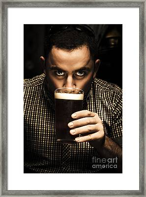 Irish Man Drinking Beer On St Patricks Day Framed Print by Jorgo Photography - Wall Art Gallery
