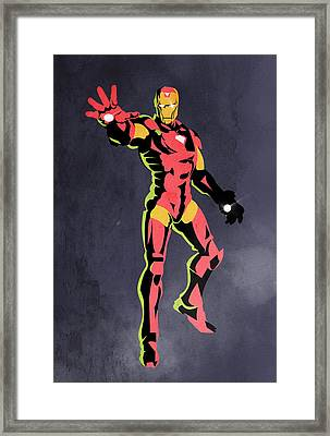 Iron Man  Framed Print by Mark Ashkenazi