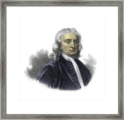 Isaac Newton Framed Print by Detlev Van Ravenswaay