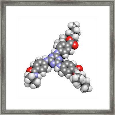 Iscotrizinol Sunscreen Molecule Framed Print by Molekuul