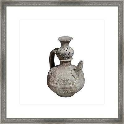 Islamic Terra-cotta Ewer Framed Print by Photostock-israel