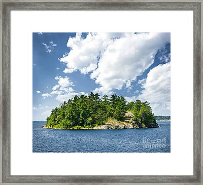Island In Georgian Bay Framed Print by Elena Elisseeva