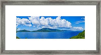 Island In The Caribbean Sea, Tortola Framed Print