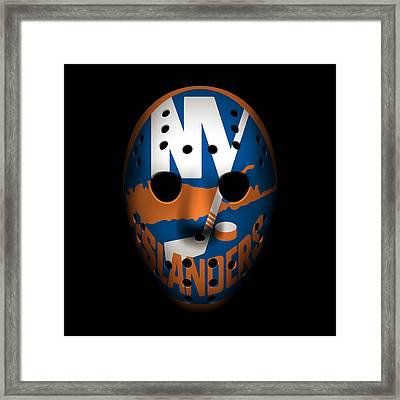 Islanders Goalie Mask Framed Print