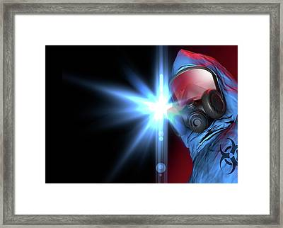 Isolation Suit Framed Print by Victor Habbick Visions