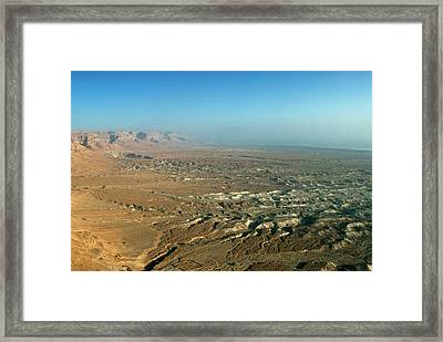 Israel, Judean Desert, Dead Sea Framed Print by David Noyes