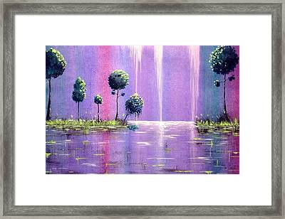 It Was A Colorful Night Framed Print