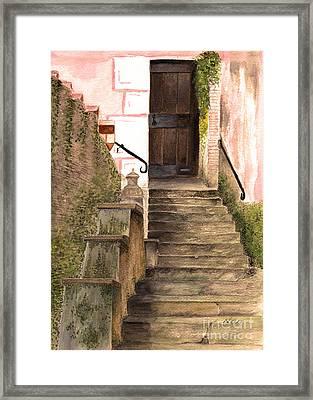 Italian Doorway Framed Print by Nan Wright