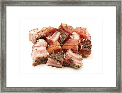 Framed Print featuring the photograph Italian Guanciale by Fabrizio Troiani