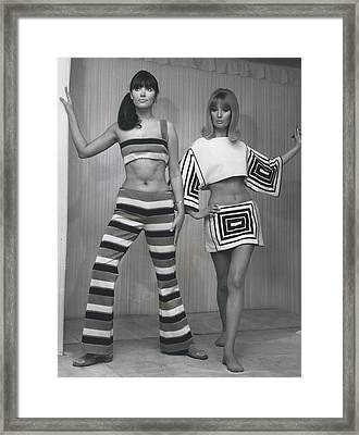 Italian Knitwear Fashion Show In Londoan Framed Print by Retro Images Archive