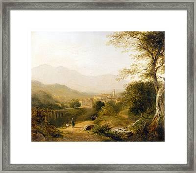 Italian Landscape Framed Print by Joseph William Allen