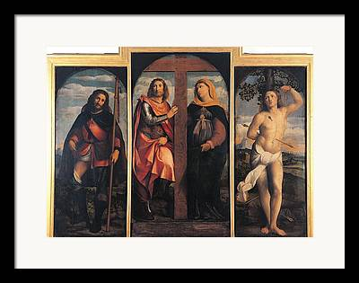 Sts Constantine And Helen Framed Prints