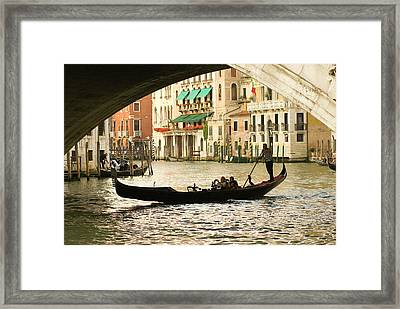 Italy, Venice Tourist Take Snap Shots Framed Print