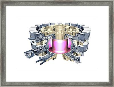 Iter Fusion Research Reactor Framed Print by Mikkel Juul Jensen