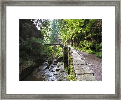 Ithaca Gorge Framed Print by Jessica Jenney