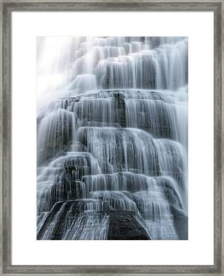 Ithaca Water Falls New York Panoramic Photography Framed Print by Paul Ge
