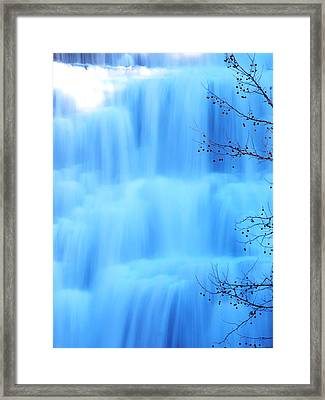 Ithaca Water Falls New York  Framed Print by Paul Ge