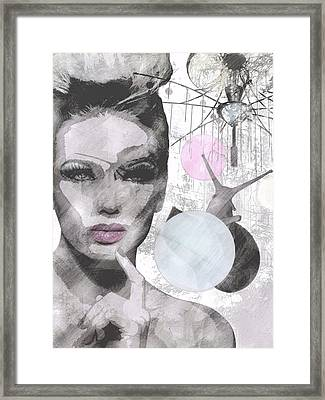 It's A Superficial World That Never Slows Down Framed Print by Kat Mellon