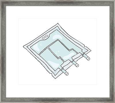 Iv Drip Bag Framed Print by Jeanette Engqvist