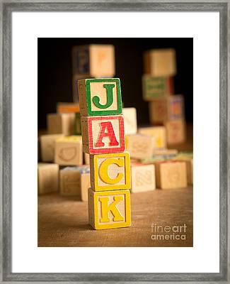 Jack - Alphabet Blocks Framed Print by Edward Fielding