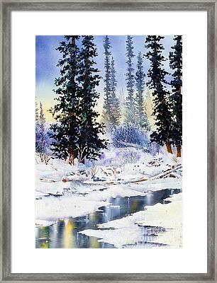 Jack Creek The Wrangells Framed Print
