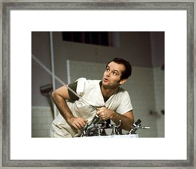 Jack Nicholson In One Flew Over The Cuckoo's Nest  Framed Print