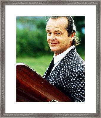 Jack Nicholson In The Witches Of Eastwick  Framed Print