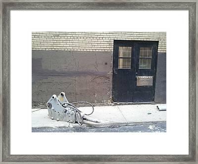 Jackhammer Framed Print