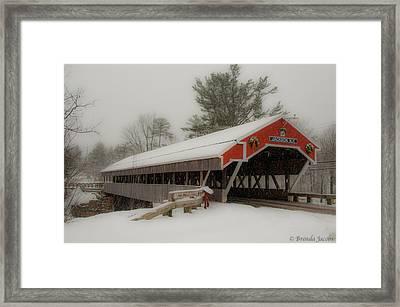 Jackson Nh Covered Bridge Framed Print by Brenda Jacobs