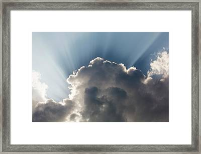 Jacobs Ladders Or Shafts Of Sunlight Framed Print by Ashley Cooper