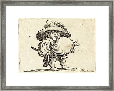 Jacques Callot French, 1592 - 1635, Man With Big Belly Framed Print