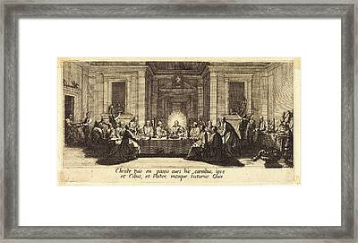 Jacques Callot, French 1592-1635, The Last Supper Framed Print