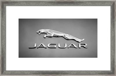 Jaguar F Type Emblem Framed Print
